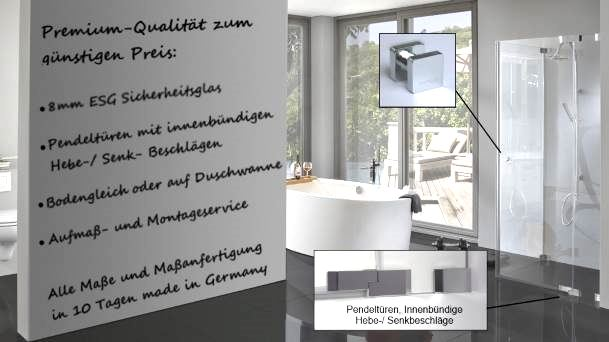 Moderne Duschen Glas Duschkabine Im Modernen Badezimmer
