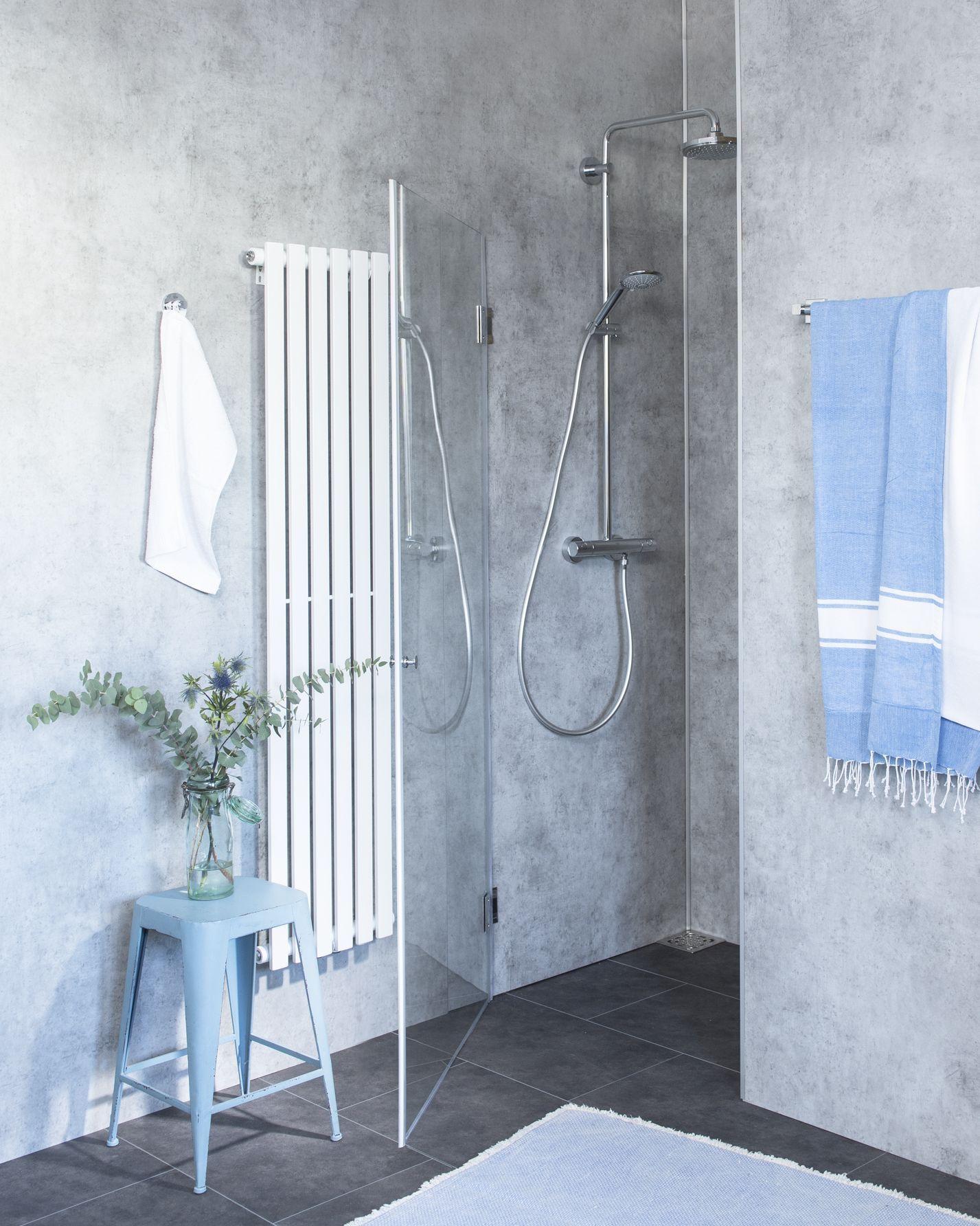 duschabtrennung f r nische klarglas chrom h 195cm combia b1n. Black Bedroom Furniture Sets. Home Design Ideas