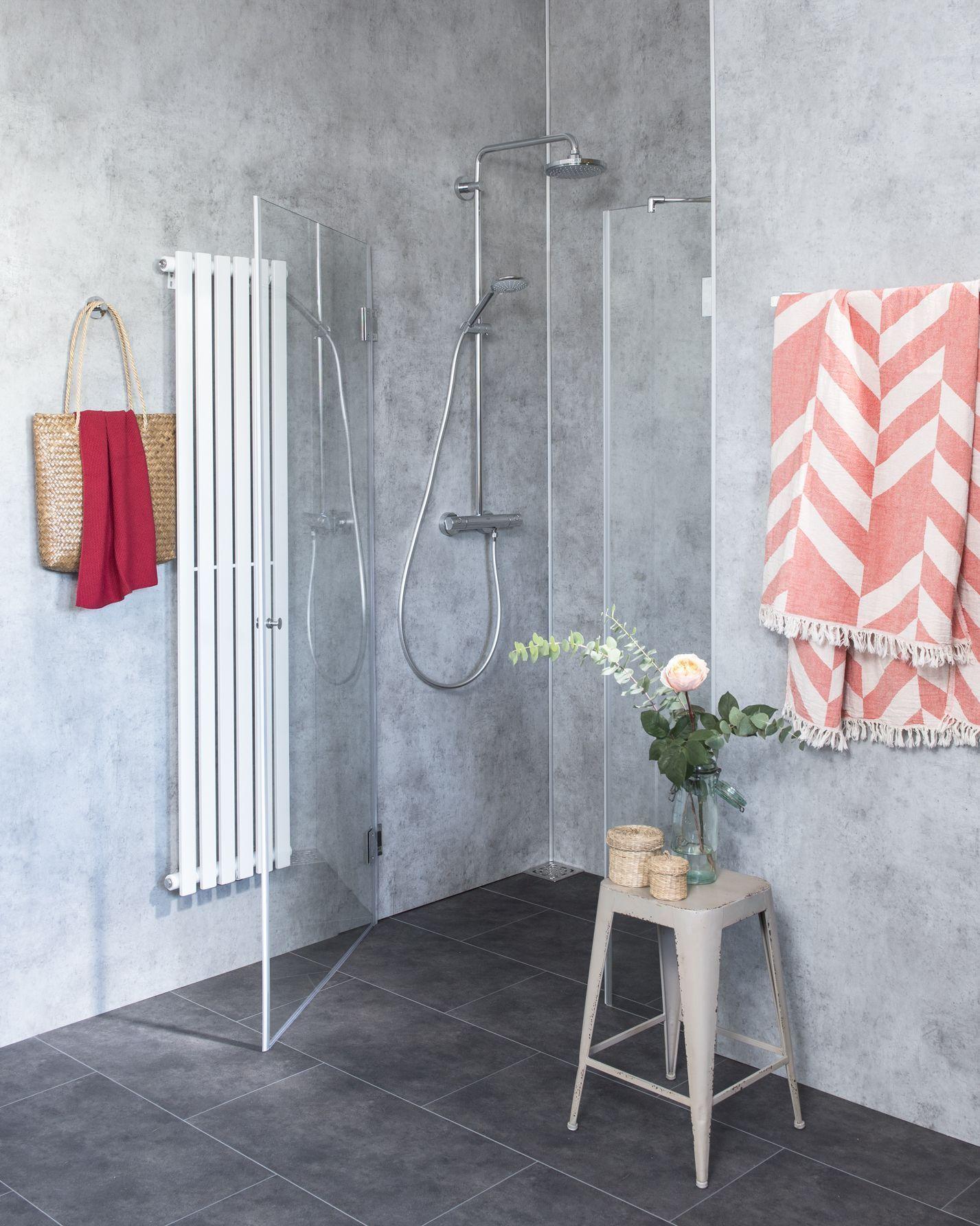 duschabtrennung f r nische ab 100 klarglas chrom h 195 combia a1n. Black Bedroom Furniture Sets. Home Design Ideas