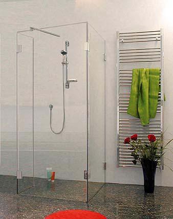 Walk in duschabtrennung klarglas chrom h 195cm combia auwx - Duschtrennwand bodengleiche dusche ...