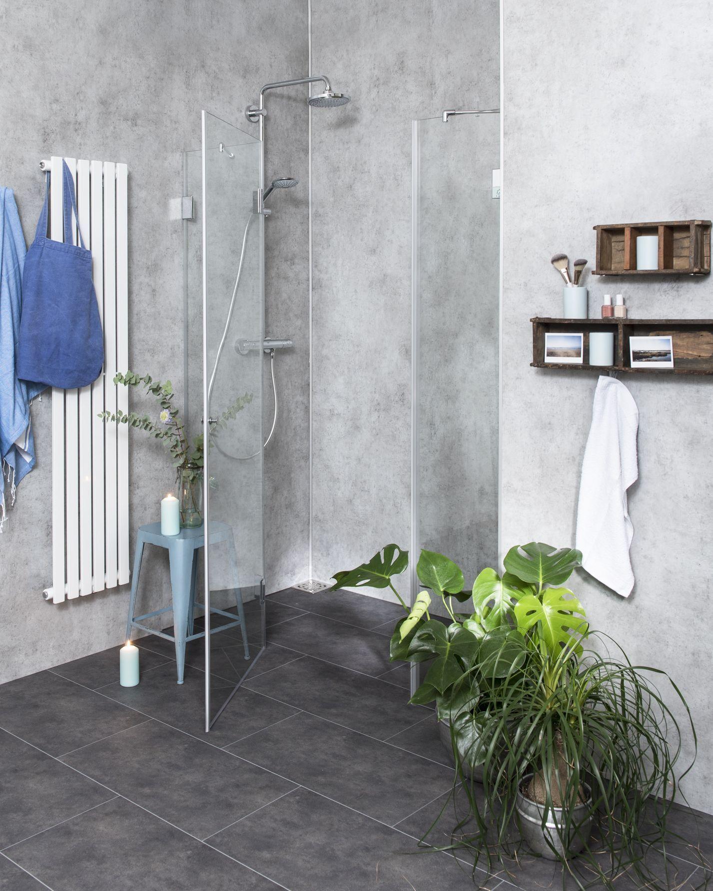 duschabtrennung f r nische ab 120 klarglas chrom h 195cm combia bxn. Black Bedroom Furniture Sets. Home Design Ideas