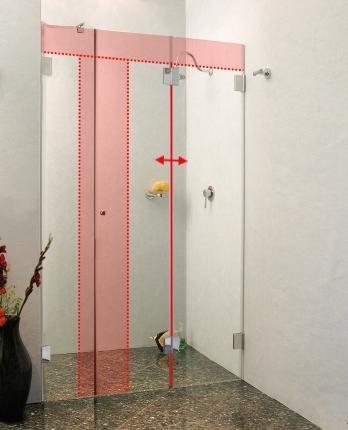duschfaltt r glas duschkabine als faltt r dusche uvp bis. Black Bedroom Furniture Sets. Home Design Ideas