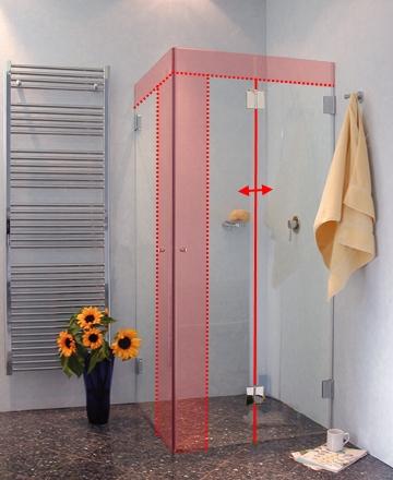 mfas faltwand dusche sonderma mit auentre klarglas chrom - Dusche Nischentur 60