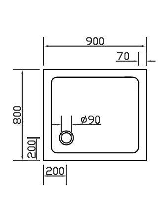 duschwanne duschtasse super flach 90x80cm h 3 5cm einbau auch bodengleich mineral colorat. Black Bedroom Furniture Sets. Home Design Ideas