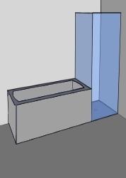 Duschen neben Badewannen