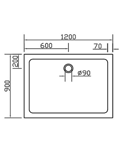 combia duschwanne duschtasse flach anti rutsch auch bodengleich sl1290e ws a ebay. Black Bedroom Furniture Sets. Home Design Ideas