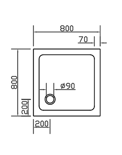 combia duschwanne 80x80 super flach anti rutsch sl8080e ws a. Black Bedroom Furniture Sets. Home Design Ideas