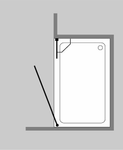 combia duschabtrennung f r nische ab 110cm klarglas chrom glas h he 195cm a1n ebay. Black Bedroom Furniture Sets. Home Design Ideas