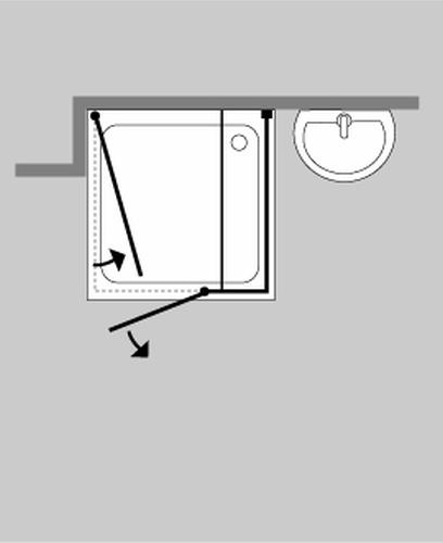 combia b ndige 3 seiten u dusche glas duschkabine buis ebay. Black Bedroom Furniture Sets. Home Design Ideas