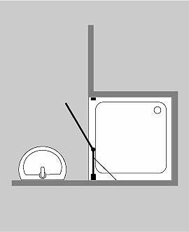 duschabtrennung f r nische klarglas chrom h 195cm combia b2n. Black Bedroom Furniture Sets. Home Design Ideas