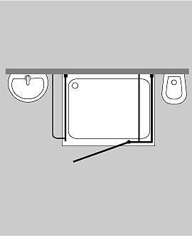 3 seiten u duschkabine combia cuxs. Black Bedroom Furniture Sets. Home Design Ideas