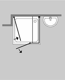 combia 3 seiten u duschkabine klarglas chrom cuis. Black Bedroom Furniture Sets. Home Design Ideas
