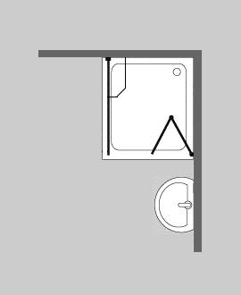 combia faltt r mit duschwand ber eck glasdusche h 195cm f1sx ebay. Black Bedroom Furniture Sets. Home Design Ideas