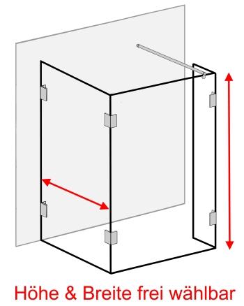 duschwand glas freistehende glasduschwand auf ma uvp bis 40. Black Bedroom Furniture Sets. Home Design Ideas
