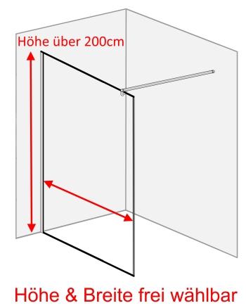 duschtrennwand glas begehbare dusche. Black Bedroom Furniture Sets. Home Design Ideas