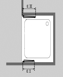 faltt r dusche in nische faltdusche aus glas combia f2nam. Black Bedroom Furniture Sets. Home Design Ideas