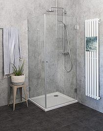 Eck Duschkabinen 80 x 80 cm - Duschen aus Glas mit Eckeinstieg