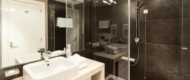modernes bad in schwarz und wei - Duschkabine Badewanne Mehr Praktisch Und Komfortabel