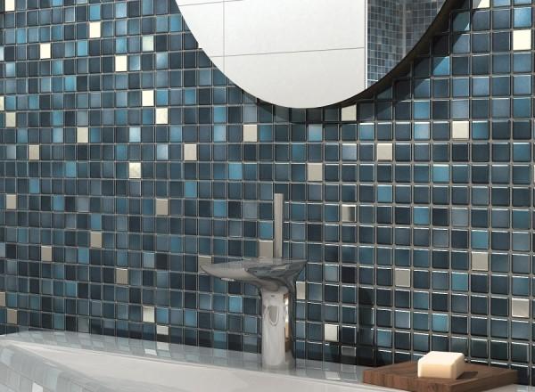 Badezimmer fliesen mosaik grau  Fliesentrends 2016: Holzoptik, Struktur, Mosaik oder XXL