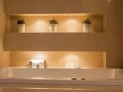 Indirekte Beleuchtug im Badezimmer