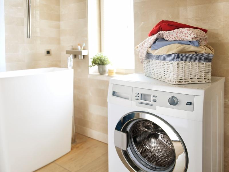 Diy inspiration für s bad so verstecken sie ihre waschmaschine