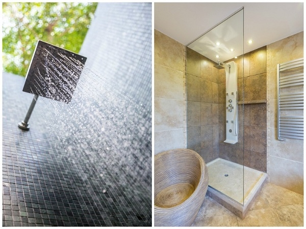 Indoor und Outdoor-Regendusche