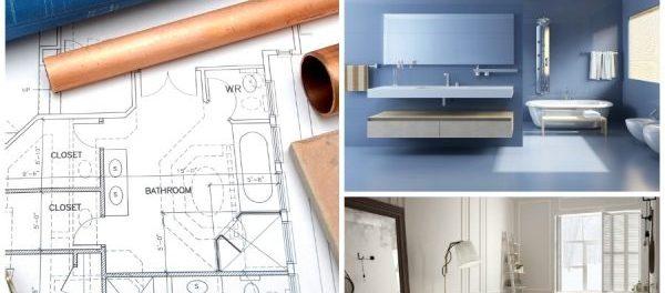 Darstellung der Planung eines Badezimmers