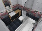 Badezimmer mit Wandtattoos