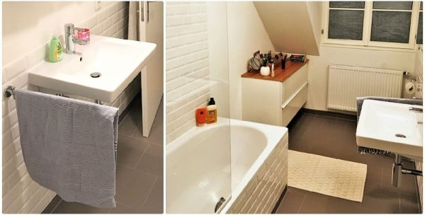 Badezimmer mit heller Ausstattung