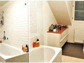 Bad mit weißen Metrofliesen