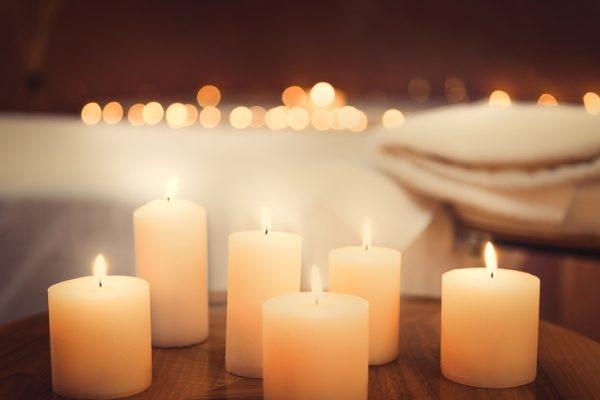 Bad mit Kerzen