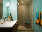 Badezimmer-Design: buntes Badezimmer