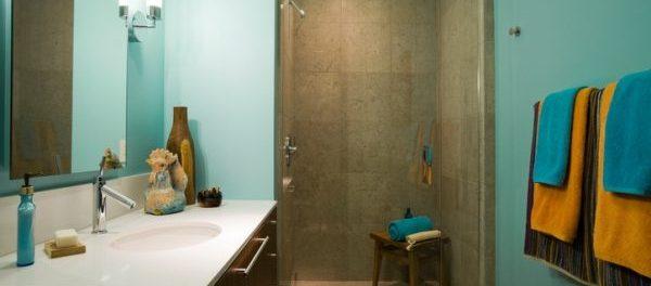 Badezimmer Design: Buntes Badezimmer