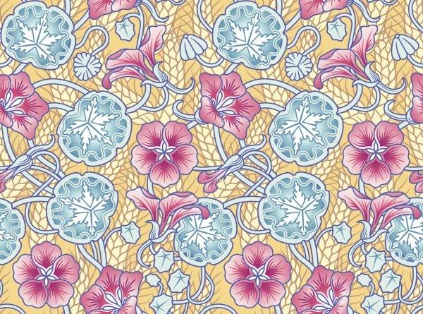 Jugendstil-Blumenmuster