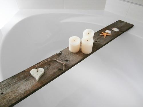 Bad-Ablage aus Holz