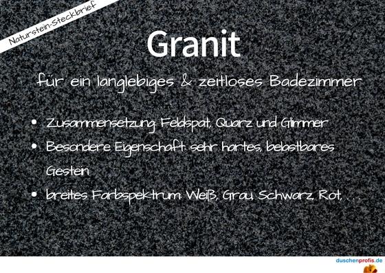 Eigenschaften von Granit als Steckbrief
