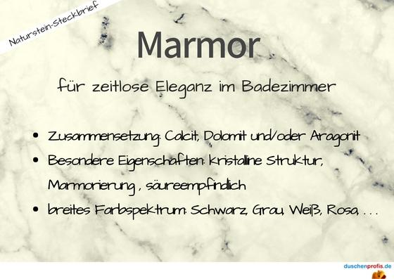 Eigenschaften von Marmor als Steckbrief
