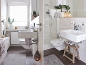 Bilder von Ullas Badezimmer, Sicht von der Tür aus