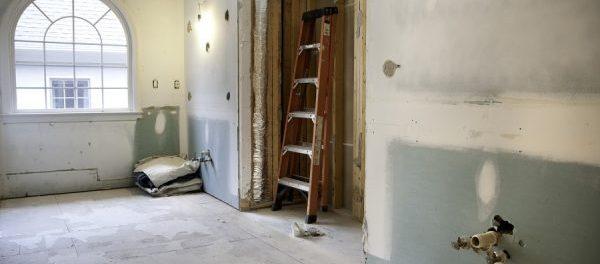 Badezimmer wird im Trockenbau saniert