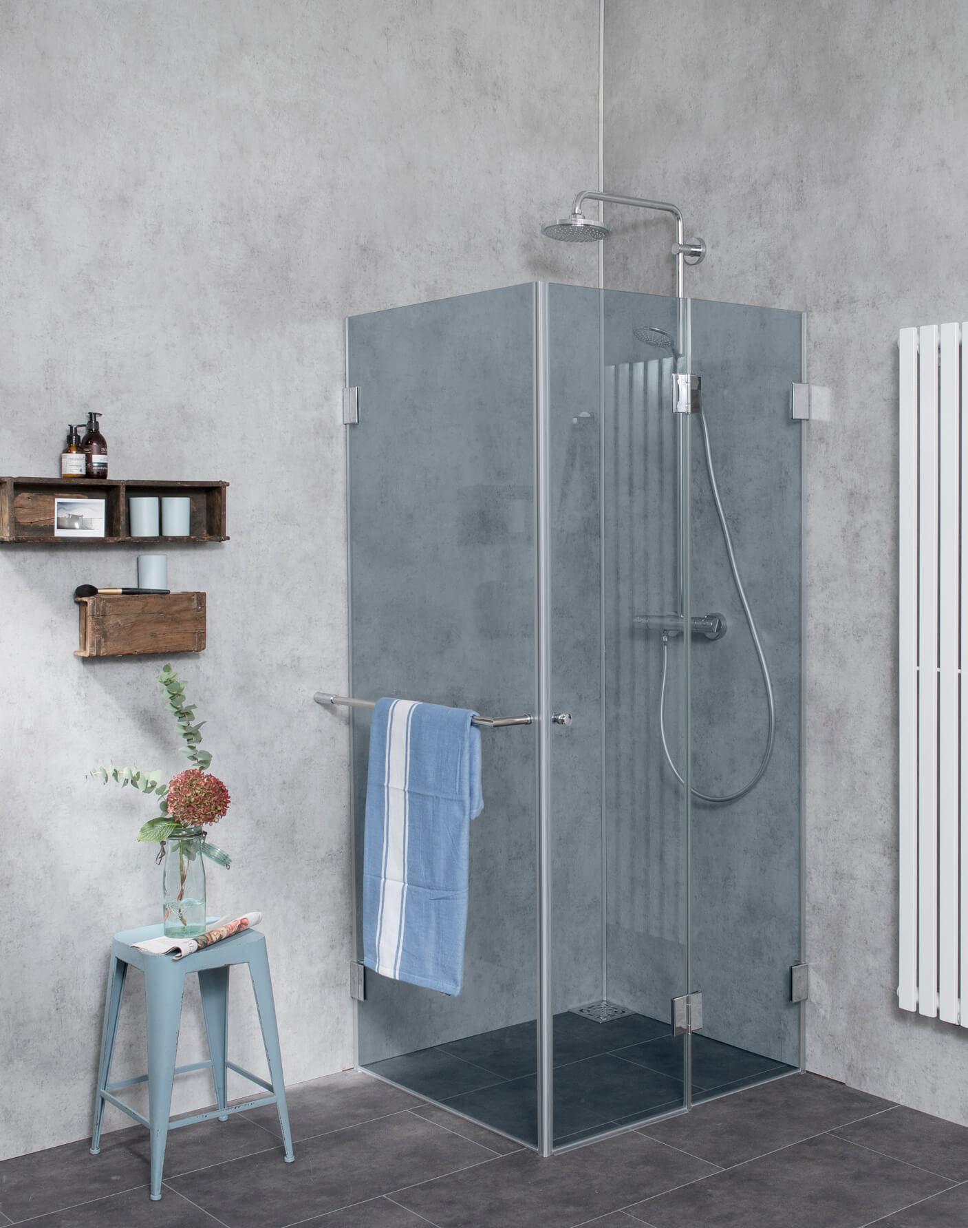 Grauglas Dusche