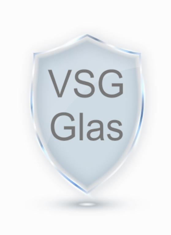 Duschwand VSG Glas