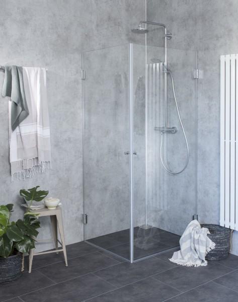 Eck-Dusche mit 2 Türen ESG Glas H=173cm