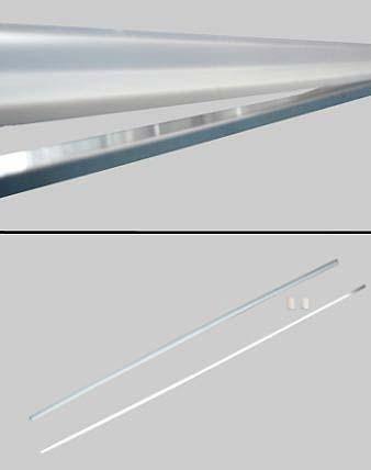 Duschen-Schwallleiste gerade für 6mm Glas, chromfarben, L=112cm