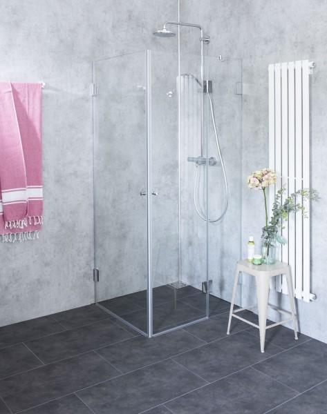 Eck-Dusche mit 2 Türen ESG Glas H=195cm