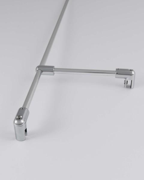 Wandarmset mit T-Stück für 6/8mm Dusche verchromt L=120/160cm