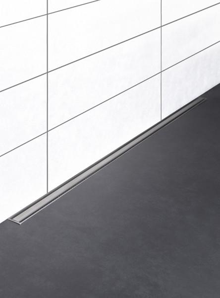 Duschrinne flach, drehbarer Ablauf in der Mitte, Länge 30 cm