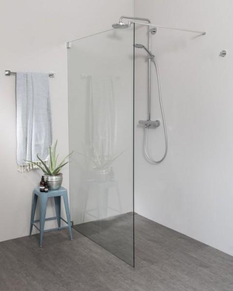 Begehbare Dusche: Freistehende Duschwand, Sondermaße