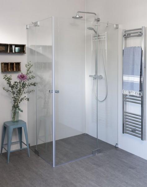 Eck Duschkabine mit 2 Pendeltüren, Sondermaße groß