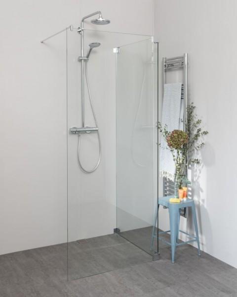 Begehbare Dusche: Walk In Duschwand mit Seitenwand, Sondermaße