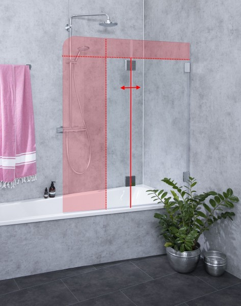 Faltwand Badewanne nach Maß Badewannenaufsatz Glas